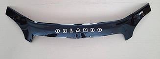 Мухобойка Chevrolet Orlando (2010>) (VT-52) Дефлектор капота накладка
