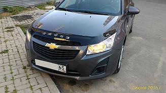 Мухобойка Chevrolet Cruze (2009>) (VT-52) Дефлектор капота накладка