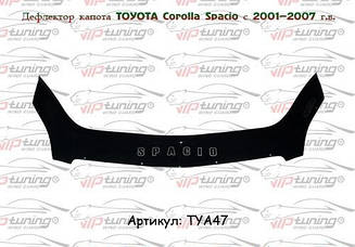 Мухобойка Toyota Corolla Spacio (2001-2007) (VT-52) Дефлектор капота накладка