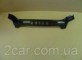 Мухобойка Opel Agila (2000-2007) (VT-52) Дефлектор капота накладка