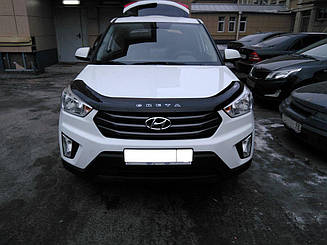 Мухобойка Hyundai Creta (2016>) (VT-52) Дефлектор капота накладка