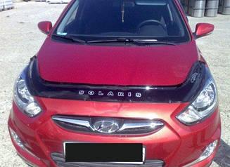 Мухобойка Hyundai Accent (2010-2014) (VT-52) Дефлектор капота