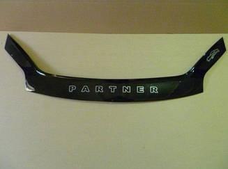 Мухобойка Peugeot Partner (2002-2008) (VT-52) Дефлектор капота накладка