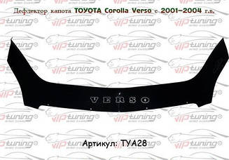 Мухобойка Toyota Corolla Verso (2001-2004) (VT-52) Дефлектор капота накладка