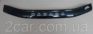 Дефлектор капота для Nissan Navara (D40) (2005>) (VT-52)