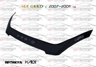 Мухобойка Kia Cee'd (2007-2009) (VT-52) Дефлектор капота накладка
