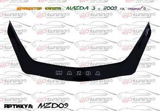 Дефлектор капота для Mazda 3 (хэтчбэк) (2009-2013) (VT-52)