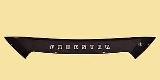 Мухобойка Subaru Forester (короткий) (2012>) (VT-52) Дефлектор капота накладка