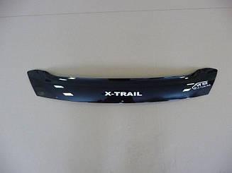 Мухобойка Nissan X-Trail T-31 (короткий) (2007-2014) (VT-52) Дефлектор капота