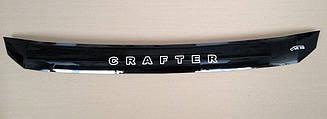 Дефлектор капота для VW Crafter (короткий) (2007>) (VT-52)