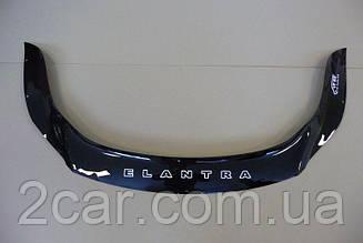 Мухобойка Hyundai Elantra (2010-2016) (VT-52) Дефлектор капота накладка