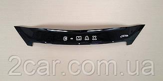 Мухобойка Ford C- MAX (короткий) (2007-2010) (VT-52) Дефлектор капота накладка