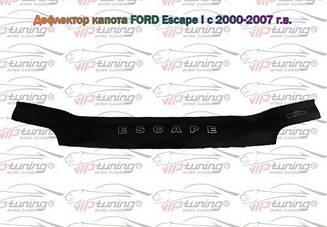 Мухобойка Ford Escape I (2000-2007) (VT-52) Дефлектор капота накладка