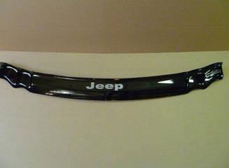 Мухобойка Jeep Grand Cherokee (WK) (2005-2010) (VT-52) Дефлектор капота накладка