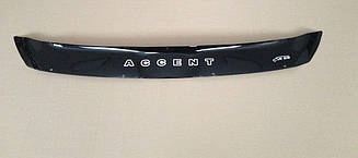 Мухобойка Hyundai Accent (RB) (короткий) (2010>) (VT-52) Дефлектор капота