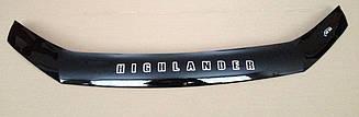 Мухобойка Toyota Highlander (2013>) (VT-52) Дефлектор капота накладка