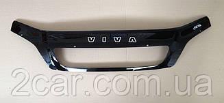 Мухобойка Chevrolet Viva (2004>) (VT-52) Дефлектор капота накладка