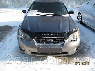 Мухобойка Subaru Legacy Outback III (2003-2009) (VT-52) Дефлектор капота накладка