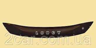Мухобойка Dacia Lodgy (короткий) (2012>) (VT-52) Дефлектор капота накладка