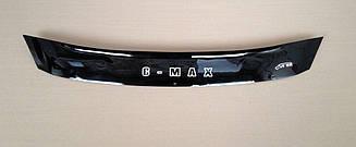 Мухобойка Ford C-MAX (короткий) (2010>) (VT-52) Дефлектор капота накладка