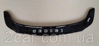 Мухобойка Fiat Sedici (2005>) (VT-52) Дефлектор капота накладка