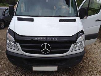 Мухобойка Mercedes Sprinter (Br.906) (Вариант А) (2006-2013) (VT-52) Дефлектор капота накладка