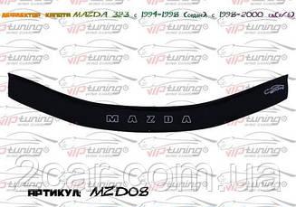 Дефлектор капота для Mazda 323 (хэтчбэк) (1998-2000) (VT-52)