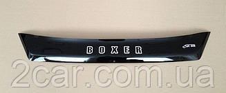 Мухобойка Peugeot Boxer (короткий) (2014>) (VT-52) Дефлектор капота накладка