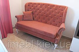 Кухонний диван з гудзиками на спиннке (Цегляний)
