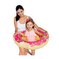 Надувной круг Modarina Розовый Пончик 60 см Розовый PF3318
