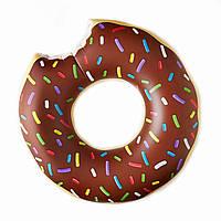 Надувной круг Modarina Шоколадный Пончик 60 см Шоколадный PF3318-2