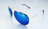 Очки  мужские капли солнцезащитные зеркальные синие