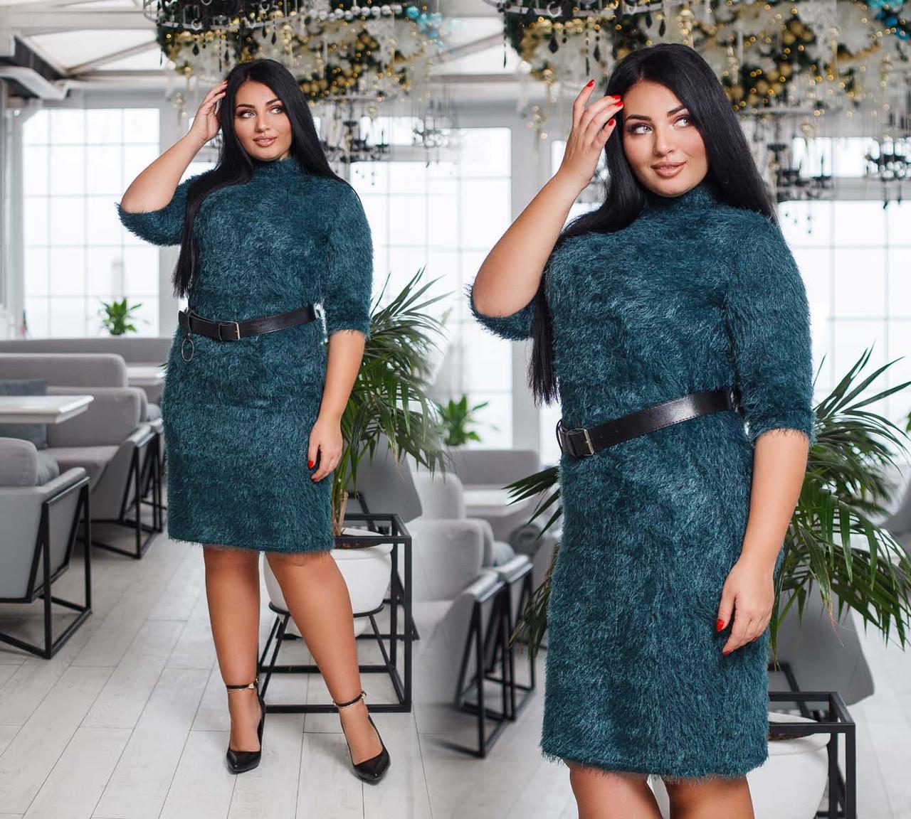 b960f95b704 Стильное короткое женское платье до больших размеров 41216-2