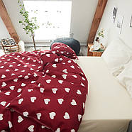 Комплект постельного белья Сердца (полуторный) Berni, фото 6