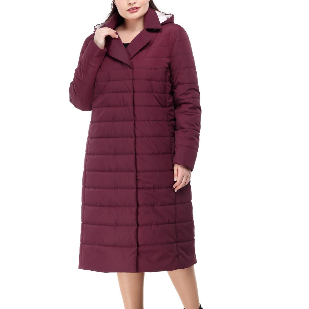 Размеры от 48 до 60 теплое демисезонное пальто разные цвета
