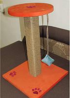 Царапка Когтеточка Дряпка с цельного бревна запахом дерева Оранжевая -50см., фото 6