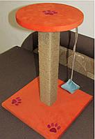 Царапка Когтеточка Дряпка с цельного бревна запахом дерева Оранжевая -50см., фото 7