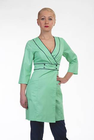 Медицинский женский халат на запаз 3134 ( коттон 42-56 р-р), фото 2