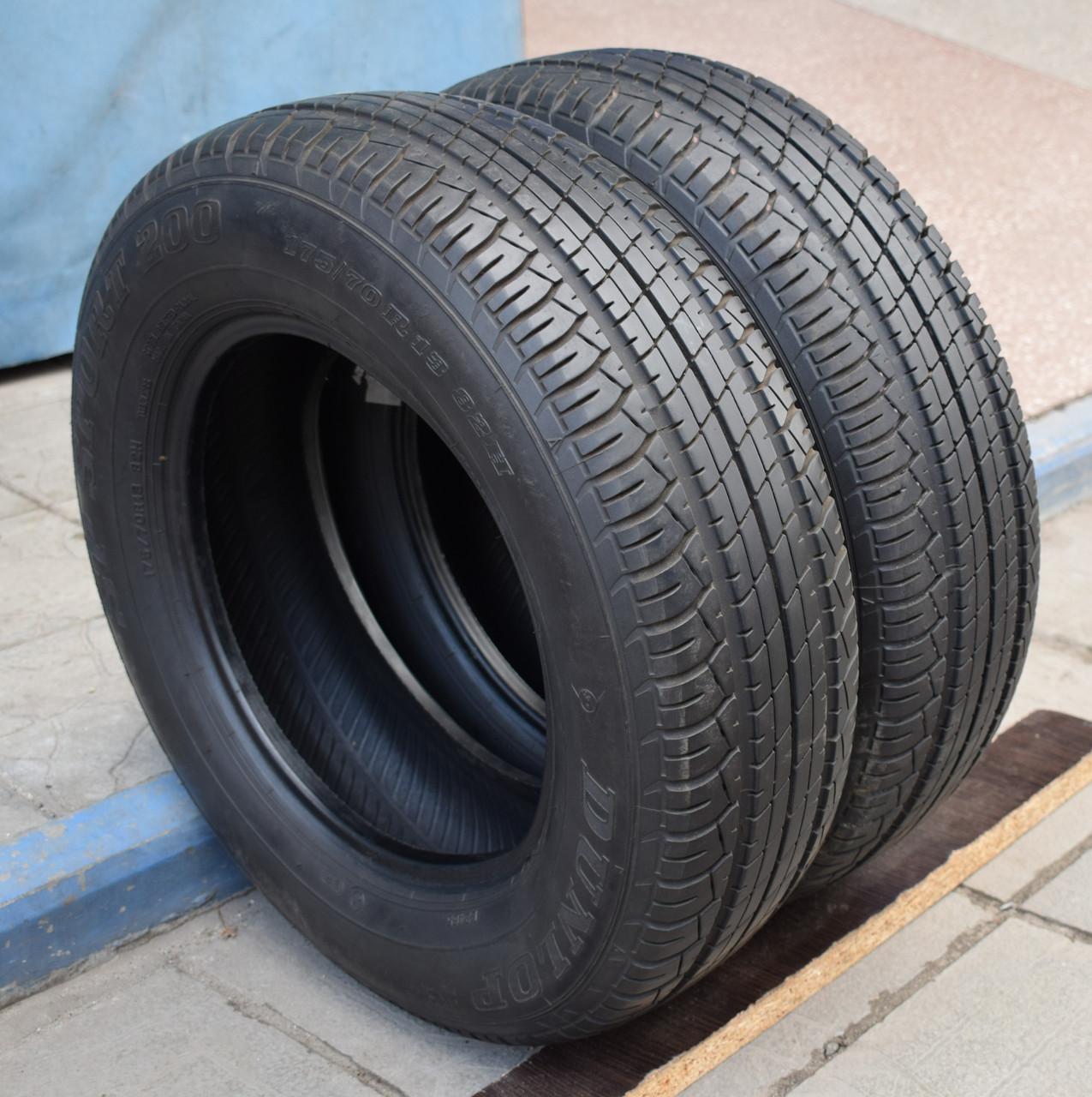 Летние шины б/у 175/70 R13 Dunlop, пара, 6 мм