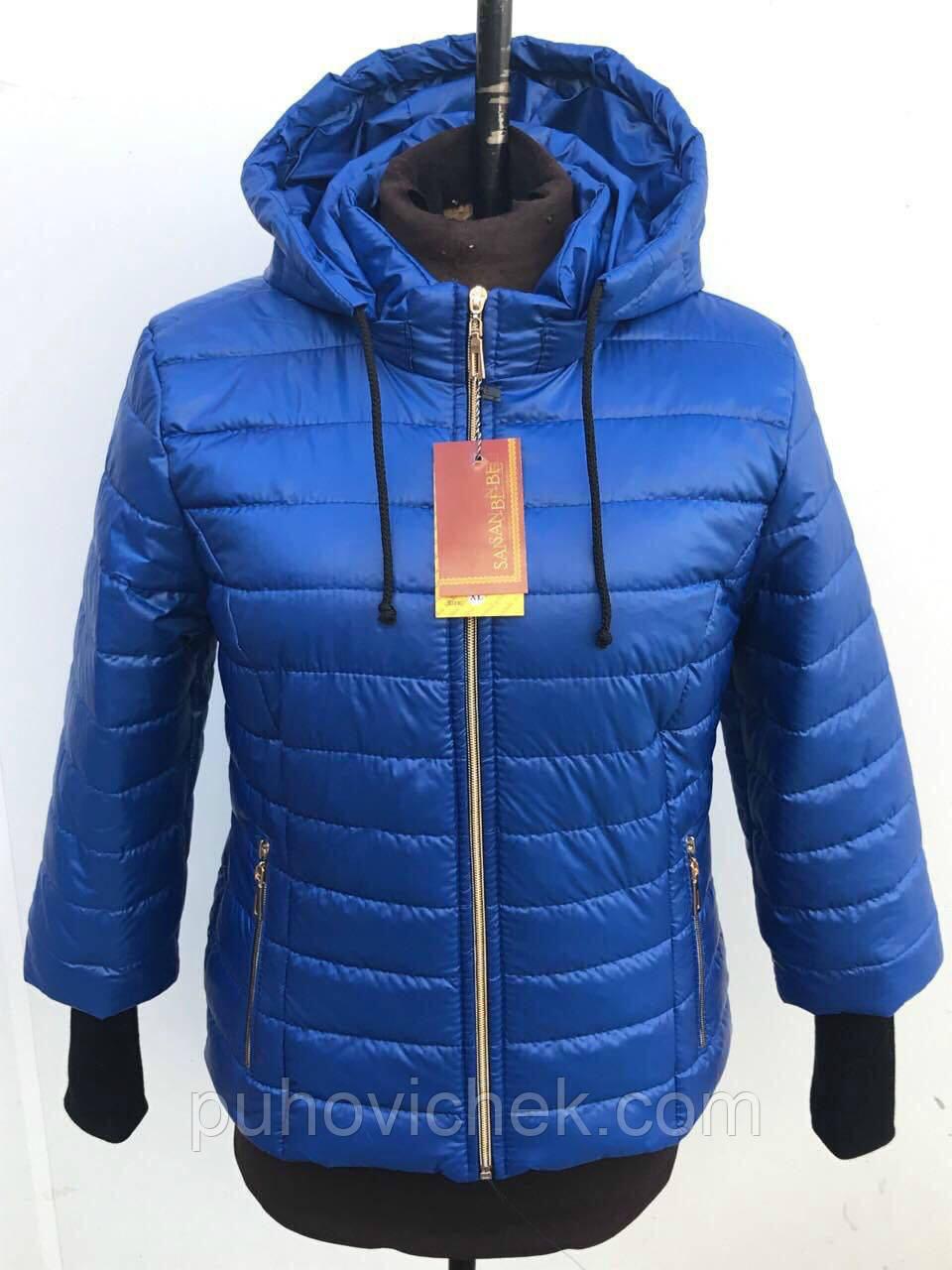 Легкая куртка женская укороченная с капюшоном