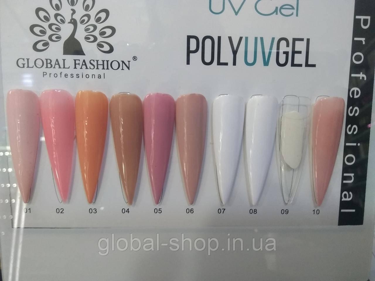 Полигель Global Fashion Poly Uv Gel 30 ml
