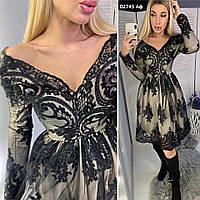 Женское гипюровое платье 02745 Аф, фото 1
