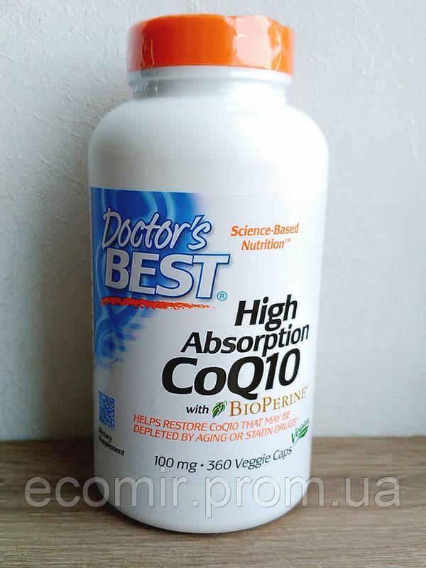 CoQ10 с BioPerine, Doctor's Best (100 мг/ 360 капсул)