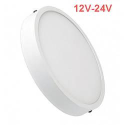 Светодиодный cветильник накладной Slim SL-462 12W 12-24V 4000K круглый белый IP20 Код.59466