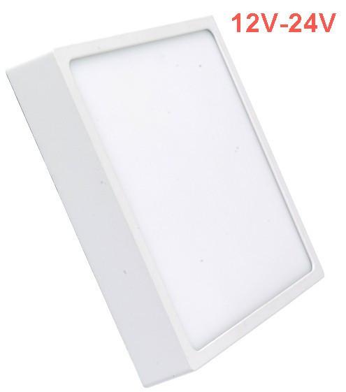 Светодиодный cветильник накладной Slim SL-465 12W 12-24V 4000K квадрат белый IP20 Код.59467