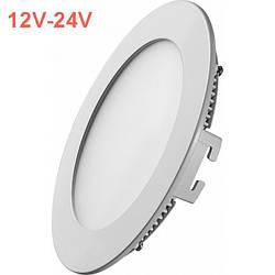 Светодиодная врезная панель SL 438R 12W 12-24V 4000K круглый белый IP20 Код.59473