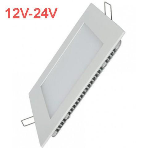 Світлодіодна врізна панель SL 448S 12W 12-24V 3000K квадратний білий IP20 Код.59478