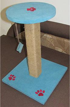 Когтеточка-столбик Бирюзовый 50 см.