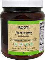 """Растительный протеин натуральный """"Ваниль"""", Vitacost, Plant Protein Natural Vanilla, 525 грамм"""