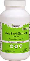 Сосновая кора, экстракт, Vitacost, Pine Bark Extract - to 95% Polyphenols, 100 мг, 200 капсул